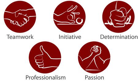 Icona di mani vettoriali