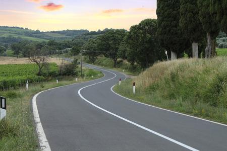 montalcino: Montalcino road