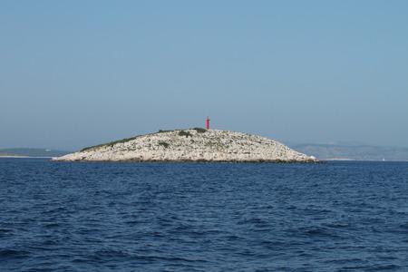 kornati national park: Red lighthouse and blue water - Kornati National Park (Croatia)