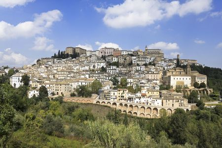 Abruzzo, Italy: medieval  town Loreto Aprutino on top of a hill
