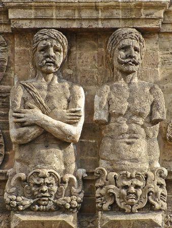 moresque: Palermo, Sicily,  Porta Nuova moorish men telamons