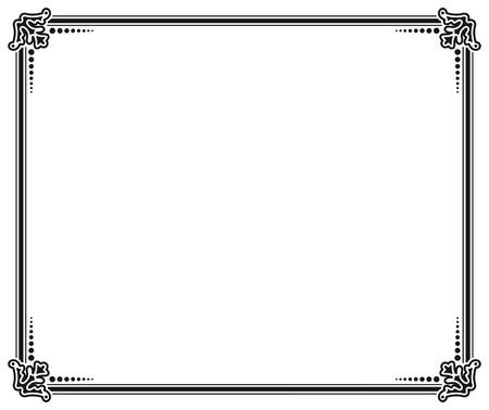page design: black and white vector frame Illustration