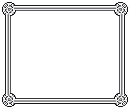 black and white vector frame Vector