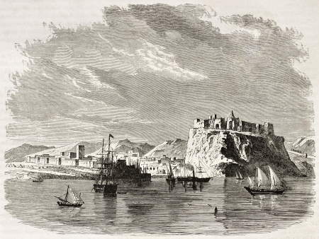 african ancestry: Rabat old view, Morocco. Created by De Berard, published on Le Tour du Monde, Paris, 1860   Editorial