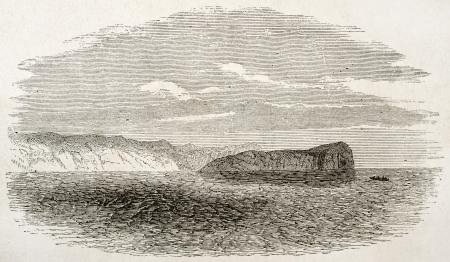 african ancestry: Elefant rock old view, near cape Guardafui, Somalia.  By unidentified author, published on Le Tour du Monde, Paris, 1860