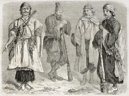 Persian men old illustration. Created by Laurens, published on Le Tour du Monde, Paris, 1860   Stock Photo - 15080356