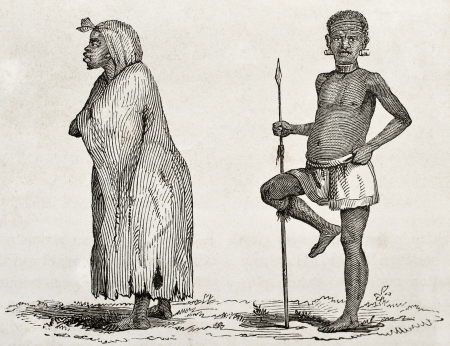 african ancestry: Tanganyika lake southern coast dwellers. Created by Burton, published on  Le Tour du Monde, Paris, 1860  Editorial