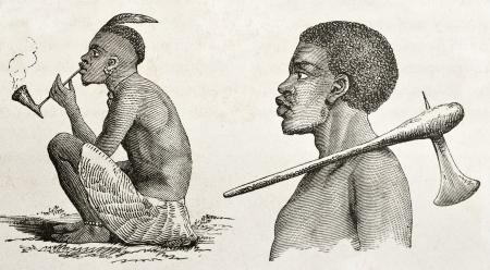 profile picture: Tanganyika lake western coast dwellers. Created by Burton, published on  Le Tour du Monde, Paris, 1860