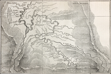 andean: Old map of Quillabamba region, Peru. Created bt Marcoy, published on Le Tour du Monde, Paris, 1864