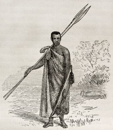 Old illustration of Ugandan dignitary. Created by Grant, published on Le Tour du Monde, Paris, 1864 Stock Photo - 15155762