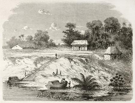 antonio: San Antonio de Ica old view, Brazil. Created by Riou, published on Le Tour du Monde, Paris, 1867 Editorial