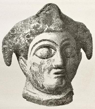 babylonian: Hallazgo arqueol�gico de Babilonia antigua ilustraci�n. Creado por Tournois, publicado en Le Tour du Monde, Par�s, 1867