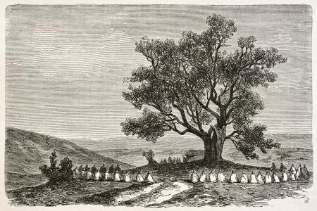 Elections in Koukou, Algeria. Created by Dohousset, published on Le Tour du Monde, Paris, 1867 Stock Photo - 15181289
