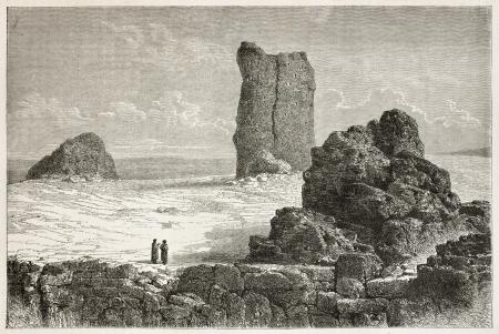 바벨 오래된 그림의 타워. 르 투어 뒤 몽드, 파리, 1867 년 출판 Lejean 후 드 바,에 의해 만들어진