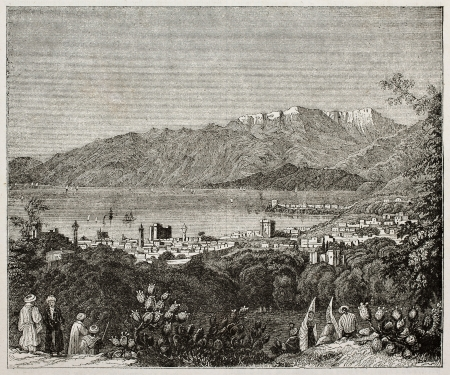 lebanon: Beirut old view, Lebanon. By unidentified author, published on Magasin Pittoresque, Paris, 1840