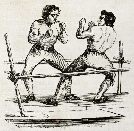 knocked out: Boxeo en 1790. Por autor no identificado, publicado el Magasin Pittoresque, Par�s, 1840