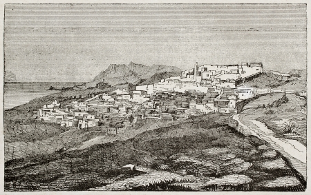 Mazagran old view, Algeria. Created by Genet, published on Magasin Pittoresque, Paris, 1840 Stock Photo - 15204054