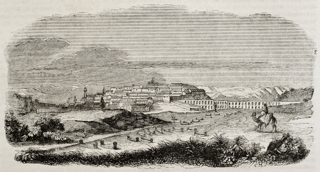 african ancestry: Medea old view, Algeria. Created by Jung after Trelo, published on Magasin Pittoresque, Paris, 1840