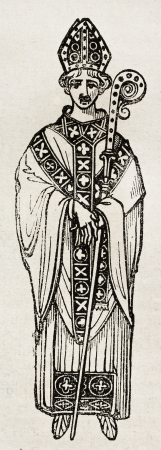 canonical: Medieval Abbot old illustration. By unidentified author, published on Magasin Pittoresque, Paris, 1840