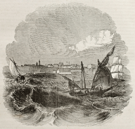 black ancestry: Odessa old view from the sea, Ukraine. By unidentified author, published on Magasin Pittoresque, Paris, 1840 Editorial