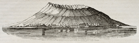 Mount Vesuvius before 79 A.D. eruption. By unidentified author, published on Magasin Pittoresque, Paris, 1840