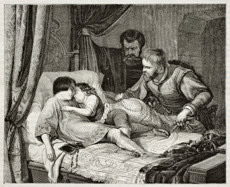 richard: King Edward V of England death. Created by Hildebrandt, published on Magasin Pittoresque, Paris, 1842