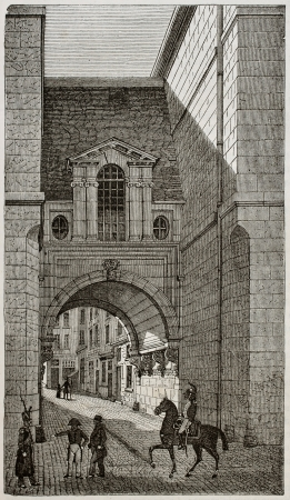 rue: Rue de Nazareth old view, Paris. By unidentified author, published on Magasin Pittoresque, Paris, 1843