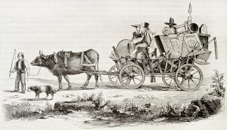 buey: La dote de una mujer suiza de Lucerna, ilustración edad. Después de litografía antigua impresa en Lucerna, publicado el Magasin Pittoresque, París, 1844 Editorial