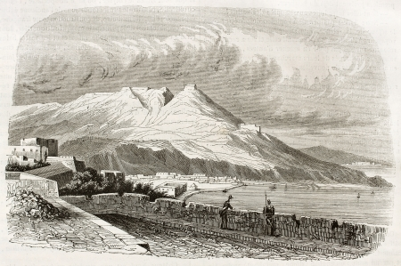 african ancestry: Oran old view, Algeria. Created by Genet, published on Magasin Pittoresque, Paris, 1844