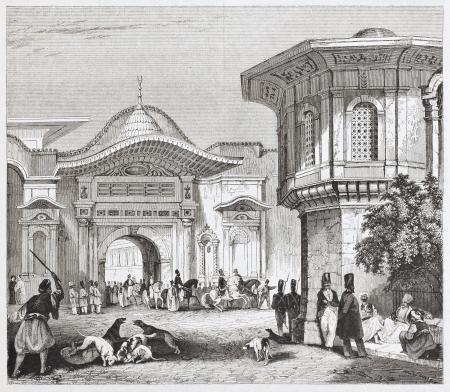 Sublime vue sur le port vieux, Constantinople. Par auteur non identifié, publié le Magasin Pittoresque, Paris, 1844