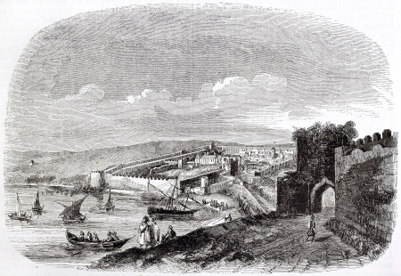 african ancestry: Tangier old view, Morocco. Created by Bertrand, published on Magasin Pittoresque, Paris, 1844 Editorial