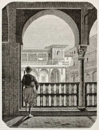african ancestry: Kasbah of Algiers old view. By unidentified author, published on Magasin Pittoresque, Paris, 1845