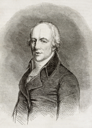 richard: Old engraved portrait of Richard Lovell Edgeworth, Anglo-Irish politician, writer and inventor. Created by Pauquet, published on Magasin Pittoresque, Paris, 1850