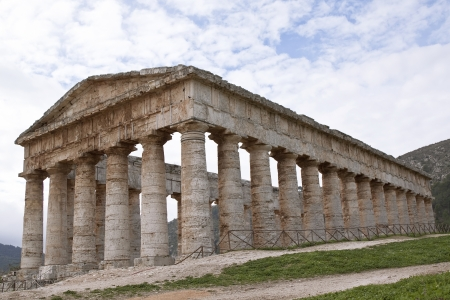 Temple of Segesta side view, western Sicily Stock Photo - 16431304