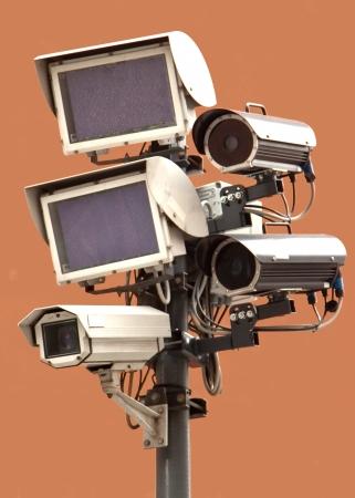 closed circuit: Closed circuit television video cameras