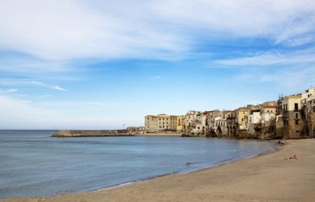 palermo italy: Cefal beach, near Palermo Sicily