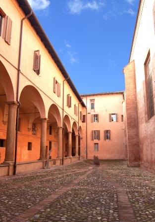 oratorio: Oratorio di Santa Cecilia cortile, Bologna, Italia Archivio Fotografico