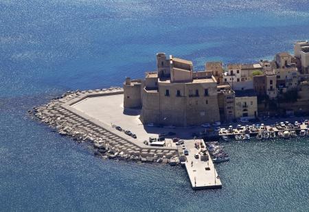 castellammare del golfo: Castellammare del Golfo sea castle, north-western Sicily Stock Photo