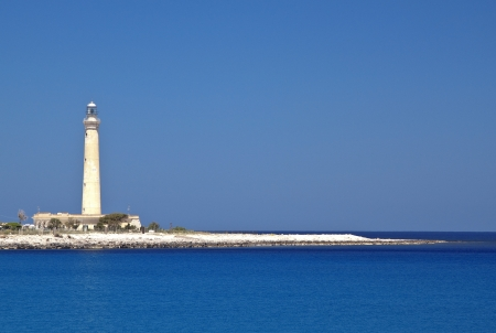 San Vito lo Capo lighthouse, north-wester Sicily.  Stock Photo