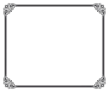 corner border: black and white vector frame Illustration