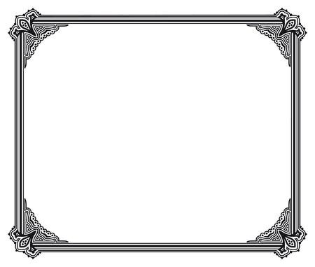 black and white vector frame