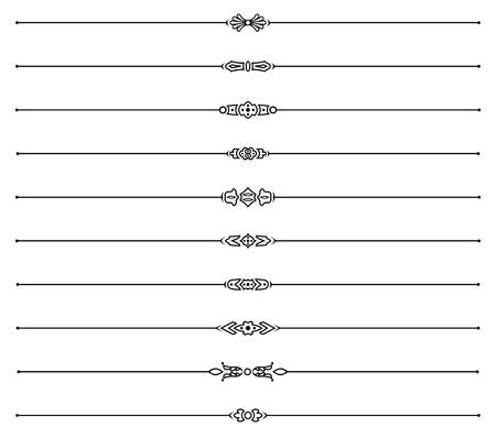 reglas de página en blanco y negro conjunto Ilustración de vector