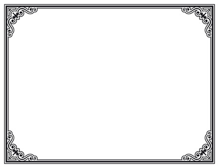 grecas: blanco y negro marco decorativo