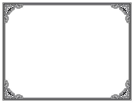 Schwarze und wei?e Dekorrahmen Standard-Bild - 22643232