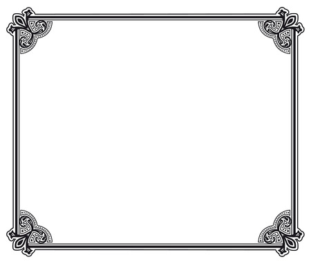 fretwork: black and white decorative frame