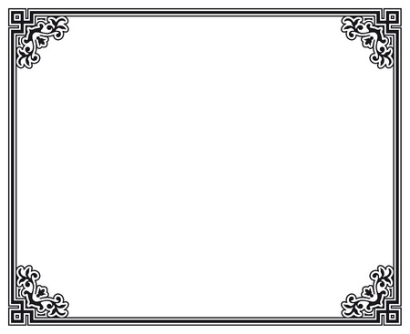 art nouveau design: black and white decorative frame