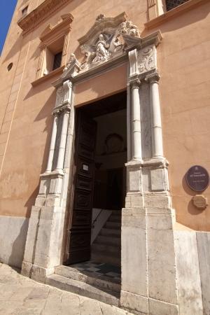 oratoria: Antiguo portal de la oratoria Immacolatella en Palermo, Sicilia Foto de archivo