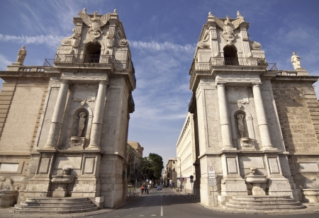 felice: Porta Felice is one of the main gates of the city of Palermo, Sicily Stock Photo