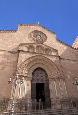 st  francis: San Francesco dAssisi church facade in Palermo, Sicily Stock Photo
