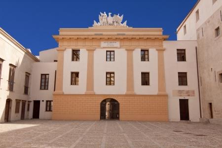 palermo italy: Palazzo Steri internal courtyard, Palermo, Sicily